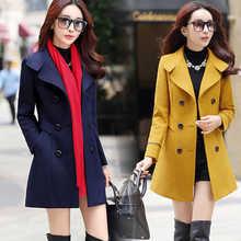 2018新款韩版春季大码毛呢外套女装气质中长款显瘦毛呢毛呢大衣女