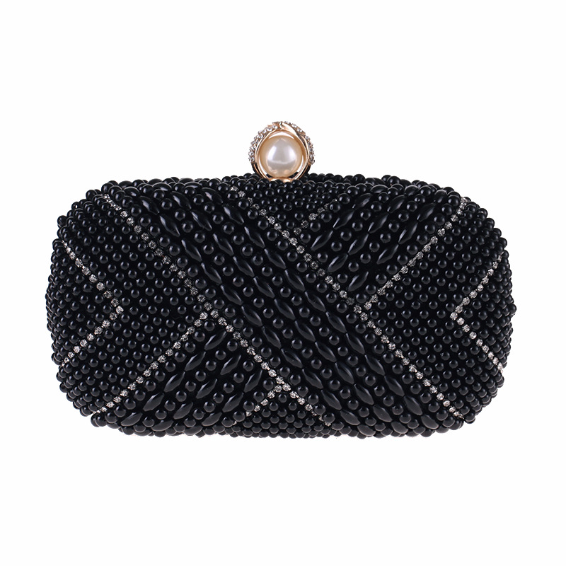 New Fashion Dinner Bag Women's Small Pearl Square Bag NHYG183001