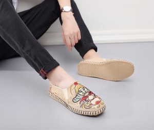 Men chinese kungfu shoes Water Margin Character Leopard Lin Chongguo Cotton Linen Embroidered Cloth Shoes  for male