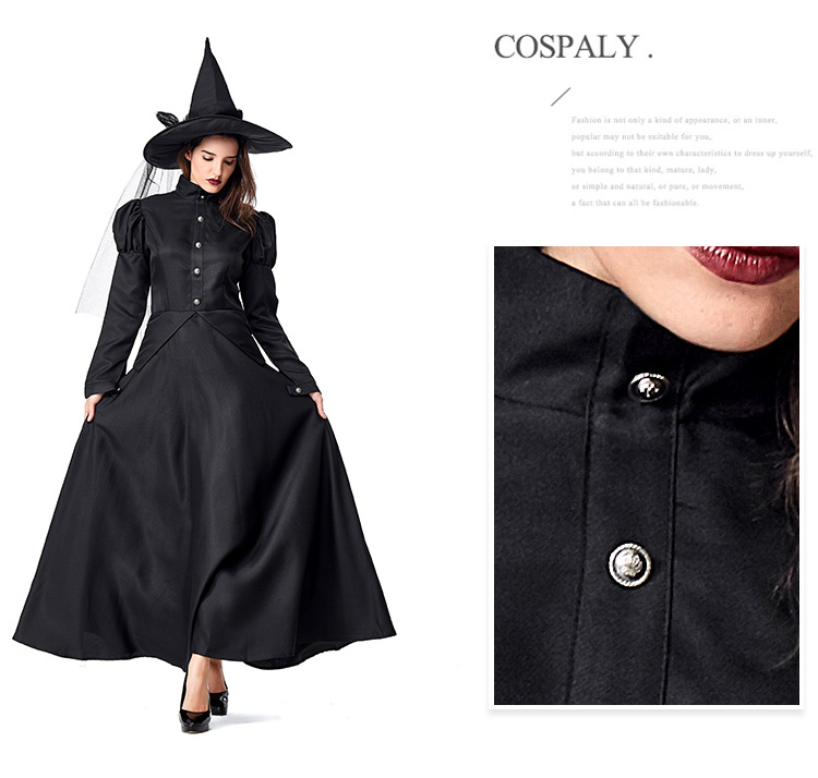 Wizard of Oz Halloween costume adult children COS black witch parent-child costume NHFE153924
