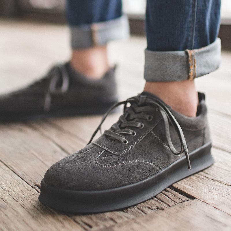 男鞋夏季潮鞋新款男士休闲鞋韩版潮流皮百搭增高英伦板鞋男