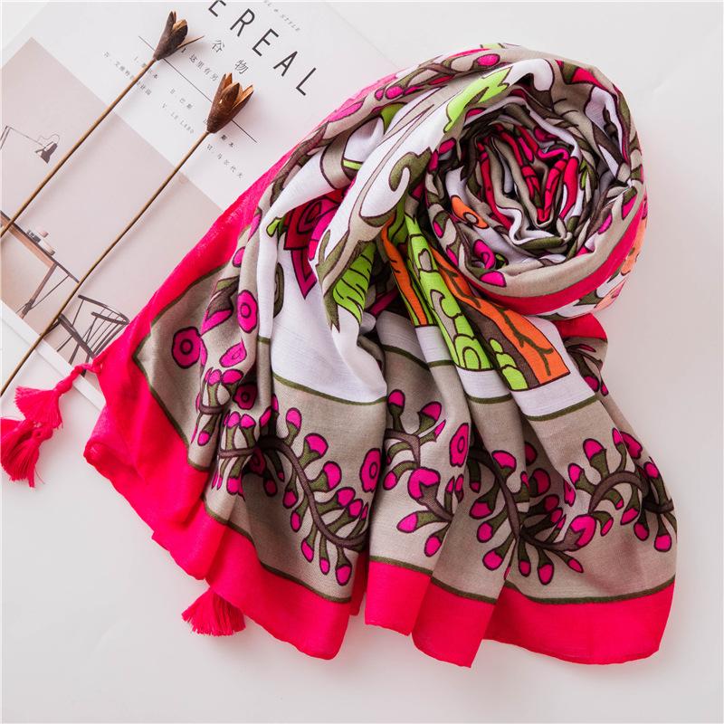 Bufanda de lino de algodón nueva de verano NHGD188406