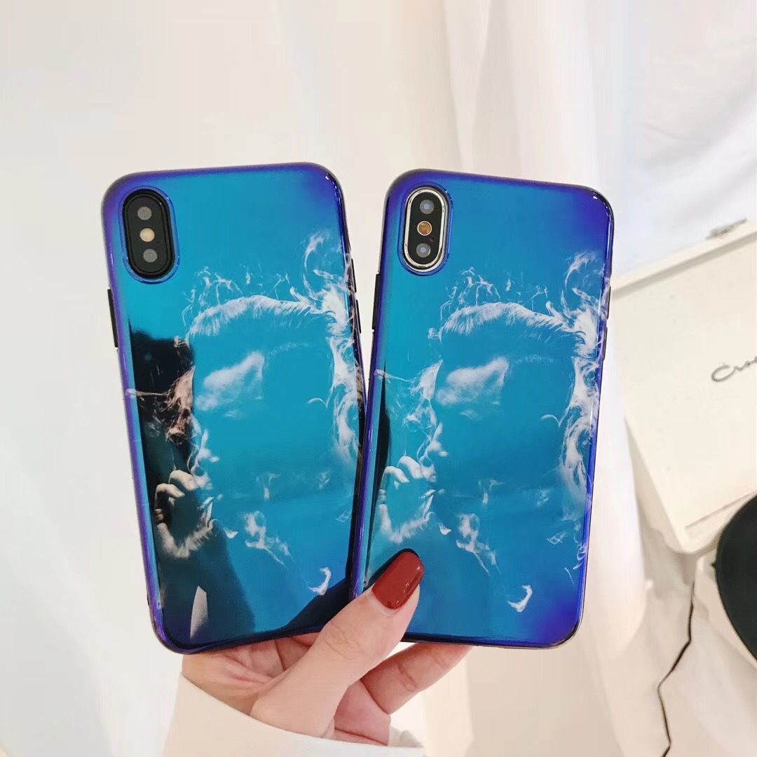 Literary wind funny boy Blu-ray iPhoneX mobile phone shell smoking child Apple 7 mobile phone imd protection mobile phone sets