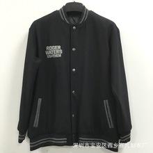 男士棒球服定制印logo 加厚呢子外套廣告衛衣韓版立領夾克衫定做
