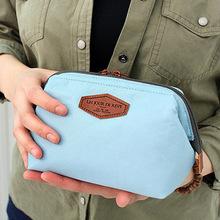 銘諾 韓國多功能時尚棉布化妝包 便攜可愛棉布洗漱包鋼架化妝包