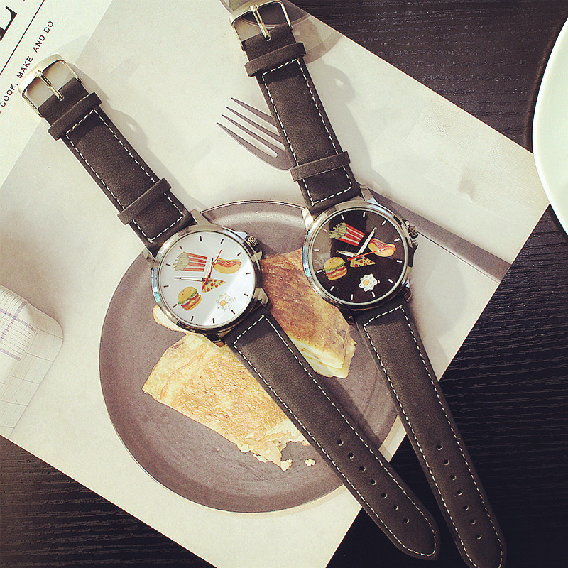 FashionStudent watch(White plate) NHCN0027-White plate