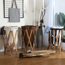 批發代發創意美式臥室布藝大號臟衣籃折疊收納簍收納筐儲物籃禮品