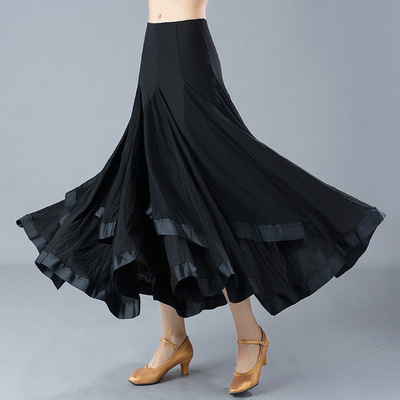 Ballroom dance skirts for women waltz tango dance skirts modern dance skirt national standard dance social dance practice performance skirt