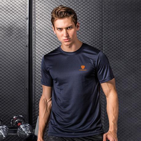 Mùa xuân và mùa hè 2019 nam thể thao tay ngắn nam quần áo nhanh khô quần áo tay ngắn nam thể thao ngoài trời giản dị Áo thun nam tay ngắn