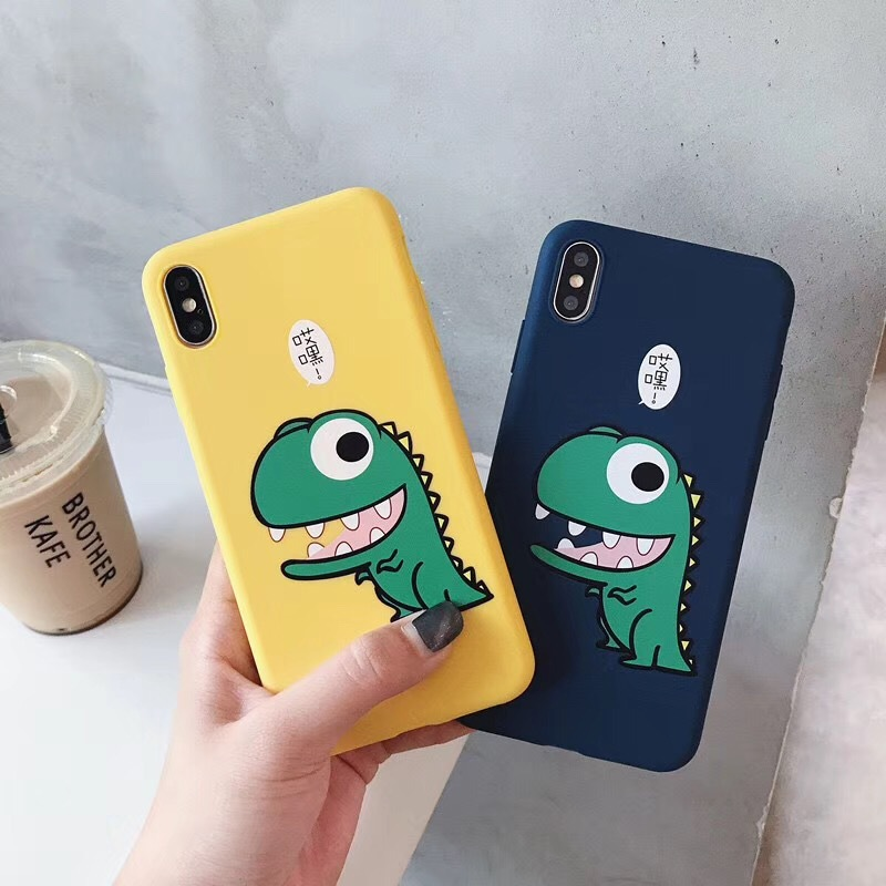 Cartoon little dinosaur iphone mobile phone case for apple protective cover Xsmax silicone cute female models 7plus soft