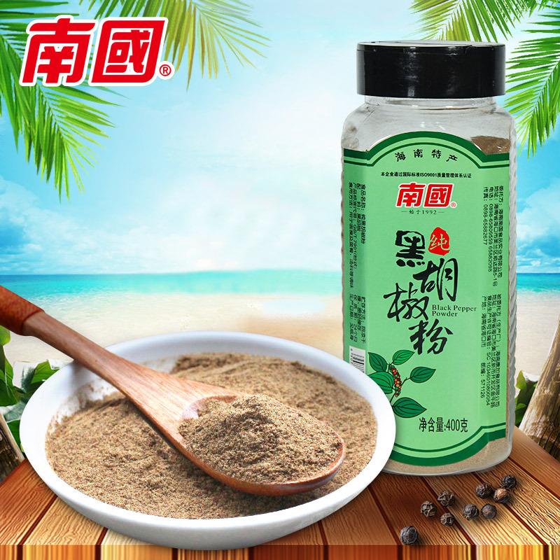 海南特产 南国纯黑胡椒粉400g 西餐牛排烤肉撒料调味料辛辣调味料