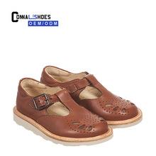 英國YS原單廣州工廠ROSIE童鞋兒童單鞋高端訂制真皮童鞋雕花童鞋
