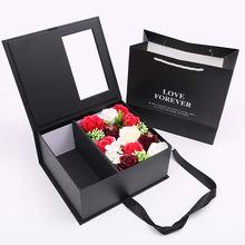 驚喜盒子香皂花禮盒翻蓋情人節禮物廠家直銷批發生日禮物仿真花