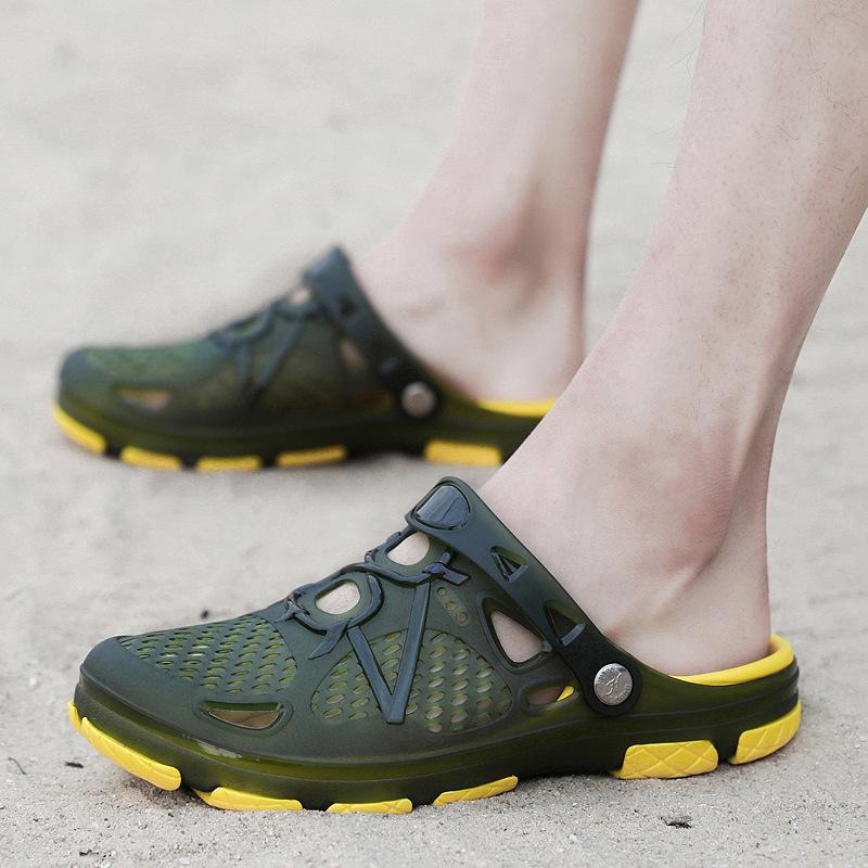 2020夏季韩版潮流沙滩鞋洞洞拖鞋男士花园鞋男学生凉鞋防滑潮拖鞋
