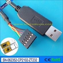 WIN10 安卓MAC CP2102 USB RS232 杜邦頭USB轉串口線 轉換線