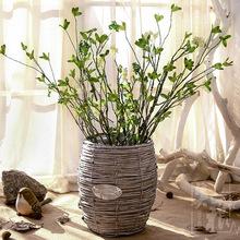 高仿真绿植迎春枝叶 PE手感假树枝果实室内样板间装饰花卉插花