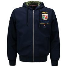 新款MA1空军一号男装全棉夹克男士连帽青年运动休闲韩版绒衫单衣