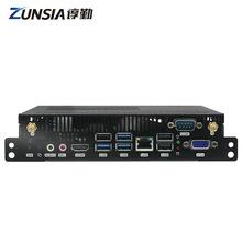 谆勤LGA1151 H110千兆网口双屏显示广告机OPS电脑一体机主机