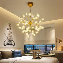 北欧现代简约创意个性艺术灯具客厅餐厅卧室玻璃球萤火虫泡泡吊灯