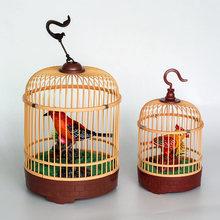 地摊热卖玩具 声控鸟 电动小鸟 拆卸声控鸟笼 公园景点热卖