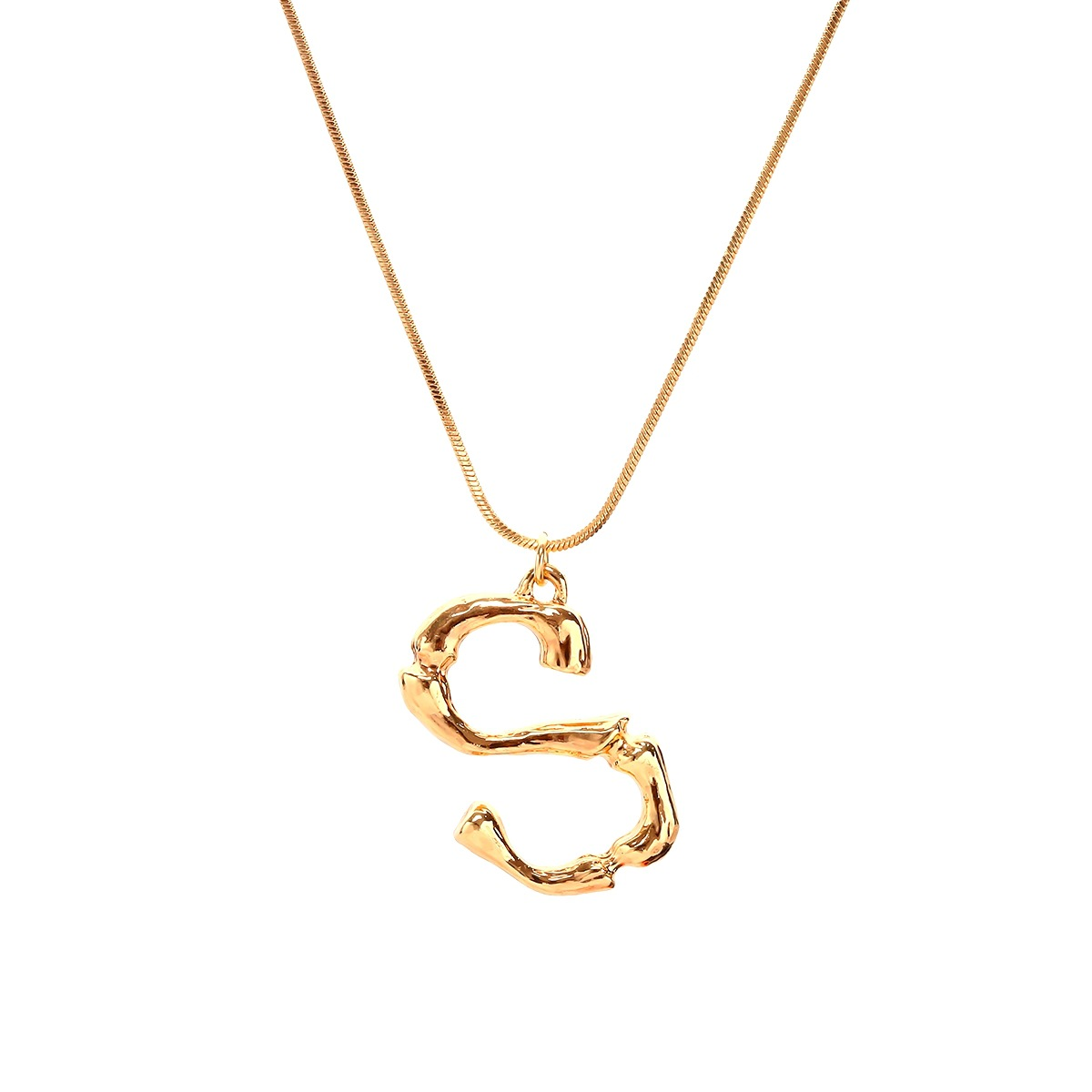 Alloy Simple Geometric necklace  (Letter A alloy 2163) NHXR2637-Letter-A-alloy-2163