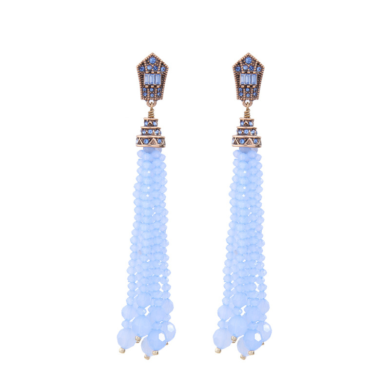 Alloy Fashion Tassel earring  (Light yellow-2) NHQD5551-Light-yellow-2