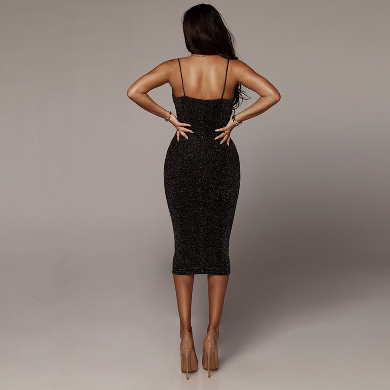 Backless Sexy Long Dress High Waist Elegant Dresses