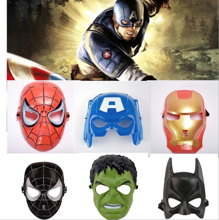 复仇者联盟面具 美国队长绿巨人蜘蛛侠 钢铁侠面具舞会表演道具