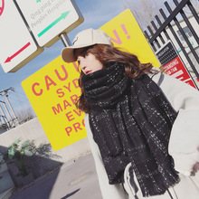 Europe and the United States new imitation cashmere scarf female autumn and winter small fragrance style warm dual-use long paragraph wild shawl bib