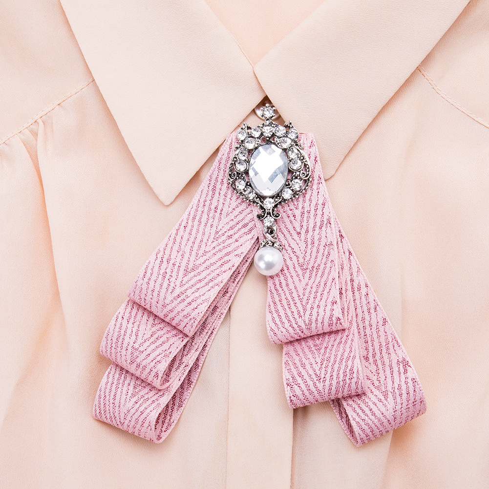 Alloy Fashion Bows brooch NHJE0976-blue