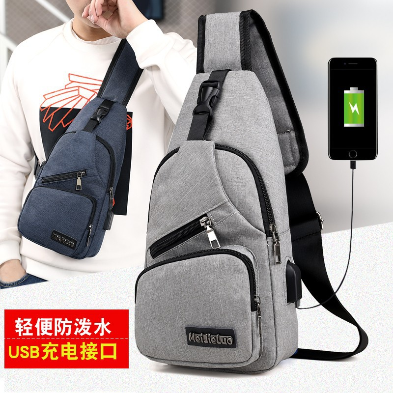 Simple men's chest bag European and Amer...
