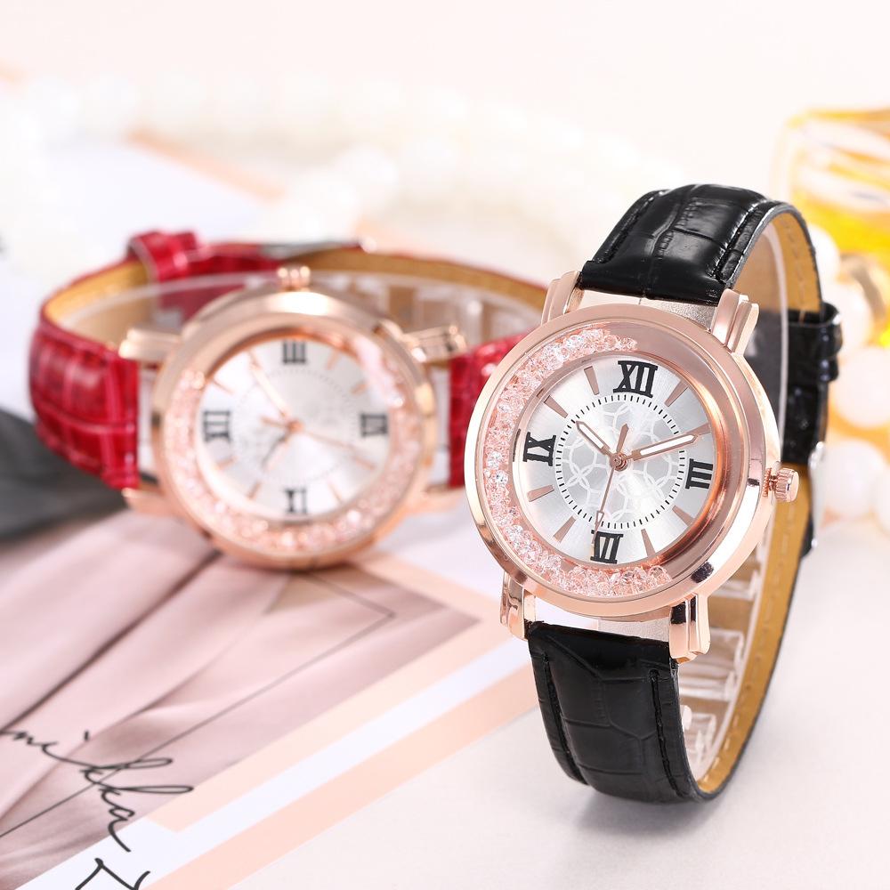 Fashion Roman Quicksand Belt Quartz Watch NHHK157647