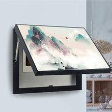 新中式電箱裝飾畫免打孔懸掛式電表箱裝飾畫家居飾品掛畫廠家批發