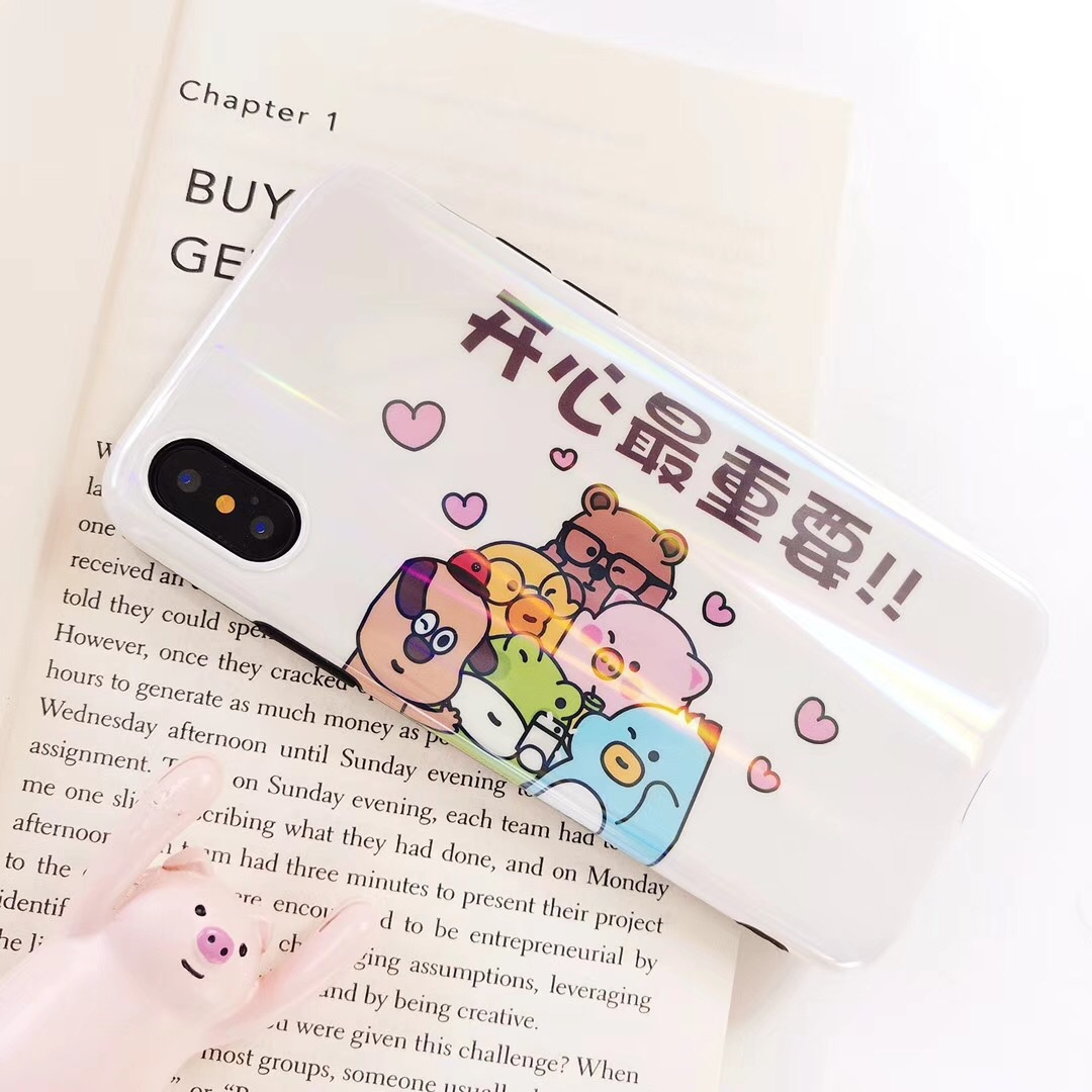 Literary style iphoneX mobile phone shell happy most important words couple tpu apple laser imd protective cover