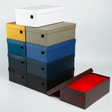 新款纯色鞋盒包装男鞋纸盒定制现货天地盖鞋子包装盒运动鞋盒批发