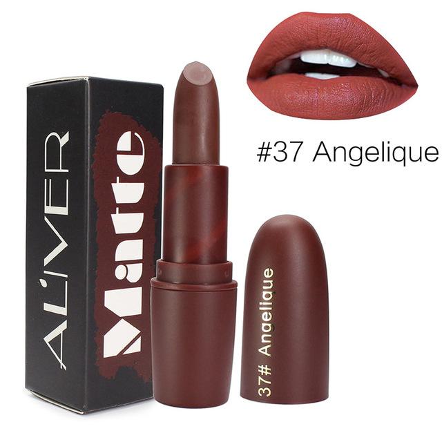 ALIVER新款9色子弹头口红不沾杯不掉色保湿唇彩口红 lipstick