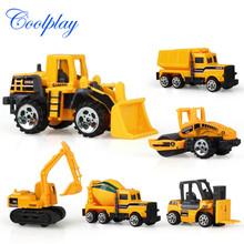现货供应儿童益智玩具仿真惯性工程车儿童迷你玩具合金车盒装