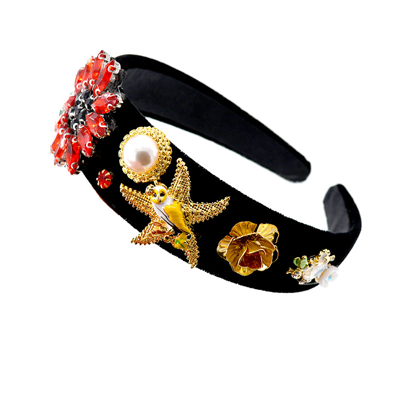 Alloy Vintage Animal Hair accessories  (black) NHNT0622-black