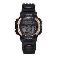 Мужской Спортивные часы ветра электронные популярный для отдыха Студенческие наручные часы круглого циферблата резиновые часы