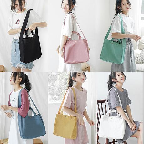 S60 Sen Sở túi vải hoang dã phiên bản màu Hàn Quốc của túi đeo vai đại học gió dung lượng lớn xách tay Messenger túi nữ