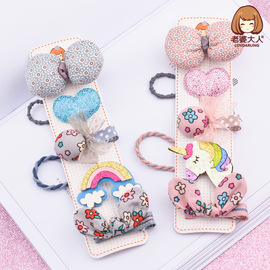 Wife adults new Japanese and Korean Margaret candy color rainbow small fresh floral bow children hairpin