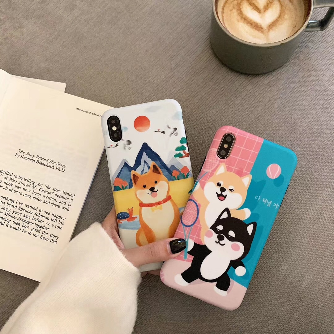 Cartoon cute two Ha Zoo for Apple x mobile phone shell iPhone7plus all-inclusive silicone soft shell female models