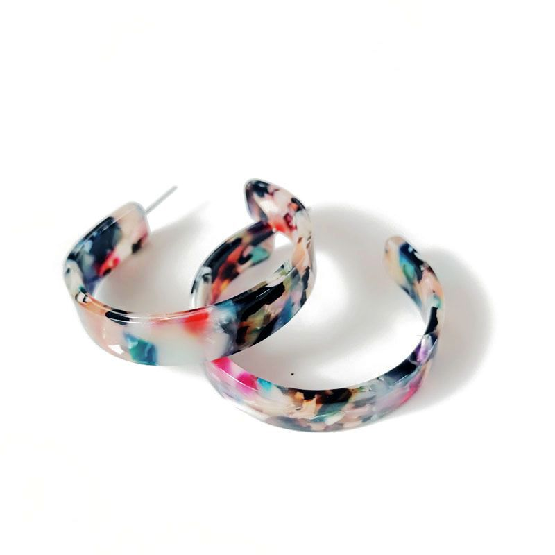 Plastic Fashion  earring  (Photo Color) NHOM0838-Photo-Color