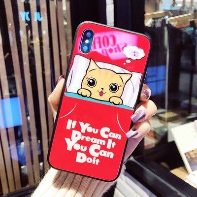 Đá cẩm thạch iphonex vỏ điện thoại di động Tempered in màu vỏ thủy tinh Soft Edge iphone8 Apple x vỏ di động nhà sản xuất