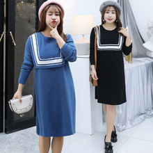 Winter new increase and increase extra large size women's fat MM knit sweater skirt   7131