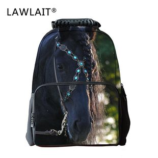 Cute little horse fashion school bag primary and middle school students configure backpack light and breathable school bag customization