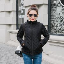 2018秋冬新款韩版宽松大码立领棉衣女短款学生夹棉棒球服外套夹克