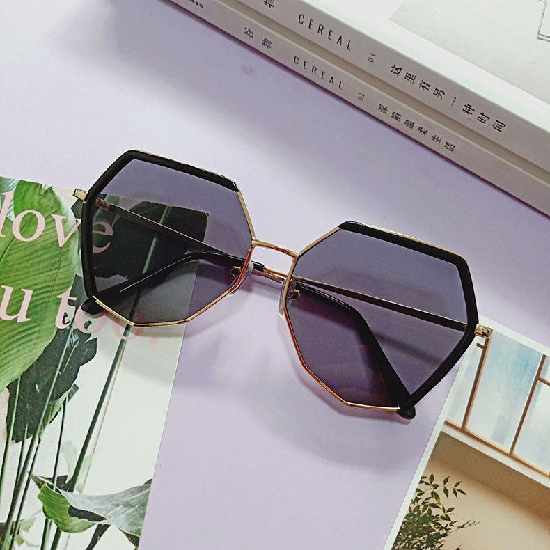 new sunglasses polygon irregular sunglasses polarized sunglasses big frame wholesale nihaojewelry NHBA231439