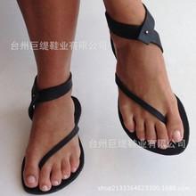 批发wish亚马逊速卖通货源巨缇夏季外贸新爆款平底大码女式凉鞋女