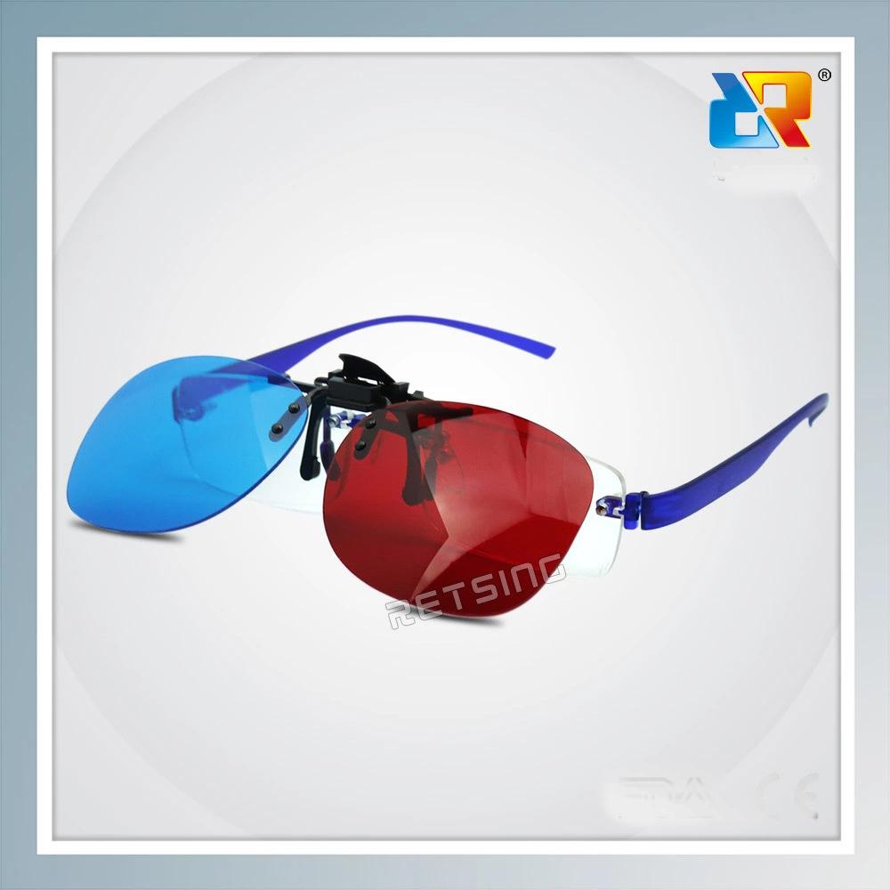 厂家供应 3D红蓝眼镜 夹片款式 近视眼镜使用
